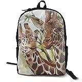 Mochila, mochila de día para ordenador, clásica, ligera, fuerte, acuarela, ciervo, jirafa