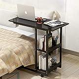 YJZQ Table Roulante de Lit Support d'ordinateur Portable Table Multi Usage Bout...