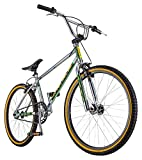 Schwinn Predator Team 24 Freestyle BMX Cruiser Bike, Throwback 1983 Design, Single-Speed Drivetrain, Hi-Ten Steel Frame, Rattrap Pedals, Front and Rear Caliper Brakes, 24-Inch Gum Wall Tires, Chrome