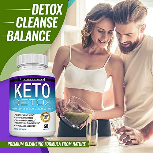 Keto Detox Pills Advanced Cleansing Extract – 1532 Mg Natural Acai Colon Cleanser Formula Using Ketosis & Ketogenic Diet, Flush Toxins & Excess Waste, for Men Women, 60 Capsules, Toplux Supplement 3 - My Weight Loss Today