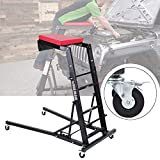 Honhill Foldable Topside Automotive Engine Creeper, Adjustable Height Engine Access Creeper with Wheels for Auto Body Shop, Home, Emergency Repair and Fleet Maintenance