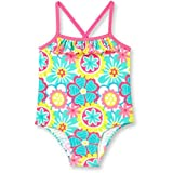 Baby Girl OP Ruffle Trim One-Piece Daisy Doodle Swimsuit Size 3/6 Months