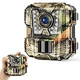 WOSPORTS Mini Trail Camera 1080P HD Wildlife Scouting Hunting Camera with IR Night...