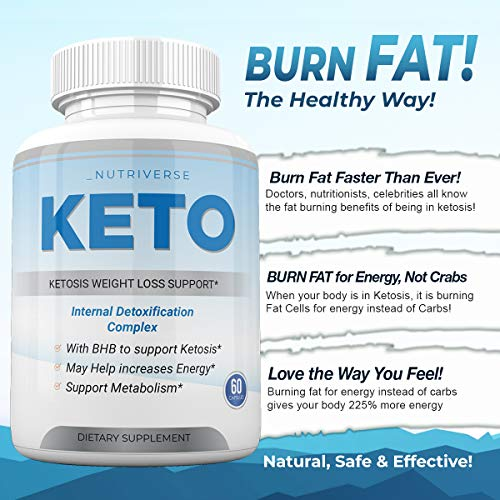 Nutriverse Keto - Ketosis Weight Loss Support - Intenal Detoxificatino Complex - 30 Day Supply 7