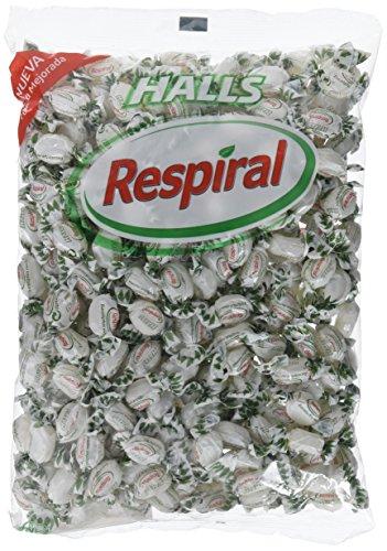 Halls Respiral - Caramelos Duros Sabor Eucalipto y Mentol - Bolsa de 1000 g