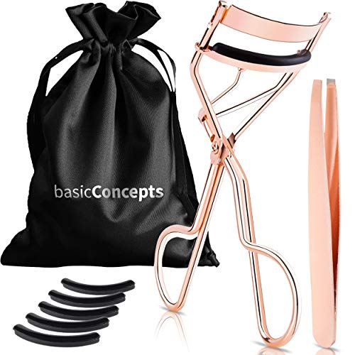 Eyelash Curler Kit (Rose Gold), Premium Lash...