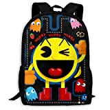 W1nW1n Pa_c man Unisex Students Schoolbags Zip-up Girl Boy Bookbag Book Bags Rucksack Knapsack Backpack Adult Daypack for Office Traval Back to School