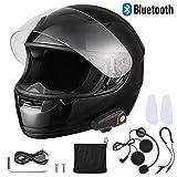 AHR Run-B Bluetooth Motorcycle Modular Helmet Full Face with Wireless Headset Hands Free Intercom MP3 FM DOT