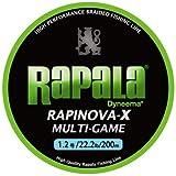 Rapala(ラパラ) PEライン ラピノヴァX マルチゲーム 200m 1.2号 22.2lb 4本編み ライムグリーン RLX200M12LG
