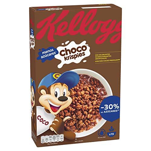 Kellogg's Choco Krispies - Cereales de arroz inflado con cacao, rico en vitaminas y hierro - Paquete 450 g