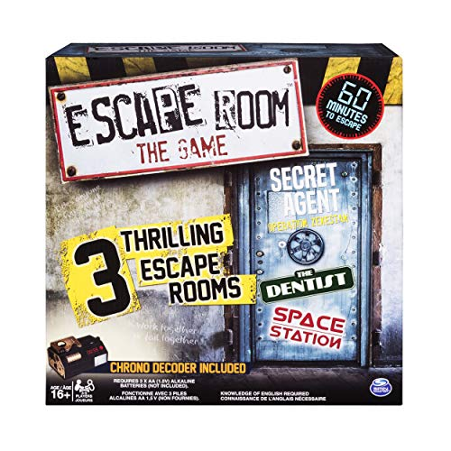 Spin Master Games - Escape Room The Game with 3 Thrilling Escape Rooms to Play, for Ages 16 and Up