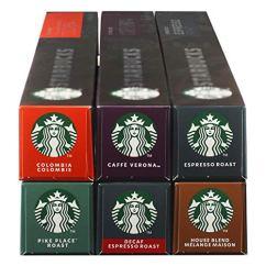 Starbucks Nespresso Komplett Set, 6 x 10 Kapseln
