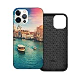 Case Compatible with iPhone 12mini Case 5.4Inches Grand Canal Venice Italy Color Toning Case For iPhone 12 Protector Shockproof Flexible TPU Bumper and Transparent Hard Pc Back