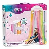 Three Cheers for Girls - Rainbow Bright Canopy - Rainbow Bed Canopy for Girls - Hanging Net Canopy...