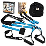 Bodyweight Resistance Suspension Training Straps - Home Fitness Trainer for All Levels, Full Body...