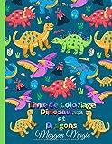 Livre de Coloriage Dinosaures et Dragons: Cahier de coloriage enfant, un...