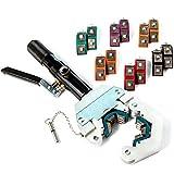Biltek Hydraulic Hose Crimper Manual A/C Hose Crimping Tool Kit Die Sizes #6#8#10#12, Black (NPTC-CS42-3M)