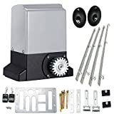 Cozyel Automatic Sliding Gate Opener Hardware Sliding Driveway Security Kit Automatic Gate Opener with Infrared Sensor, Remote Control and Gear Rack