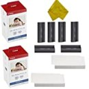 Canon KP-108IN 3 Color Ink Cassette and 216 Sheets 4 x 6 Paper Glossy For SELPHY CP1300, CP1200, CP910, CP900, CP760, CP770, CP780 CP800 Wireless Compact Photo Printer (2-Pack)