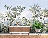 SILK ROAD EU Papier Peint Panoramique jungle Soie, Personnalisable, Tropical Rainforest Coconut Tree Poster Geant Mural Personnalisé 3D pour Salon Chambre Décoration Murale