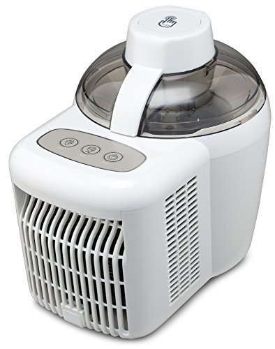 Gourmia Automatic Ice Cream Maker with Internal Cooling System - No Pre Freezing Needed, Makes Hard & Soft Serve Ice Cream, Gelato, Sorbet & Frozen Yogurt Includes Free Recipe Book - 1.5 Pints
