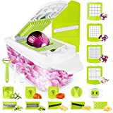 Sedhoom Vegetable Chopper Veggie Chopper 23 PCS Food Chopper and Dicer Onion Cutter Chopper Vegetable Cutter Potato Fruit Chopper w/Container Large