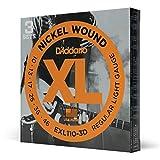 D'Addario EXL110-3D Cordes en nickel pour guitare électrique Regular Light 10-46 3 jeux