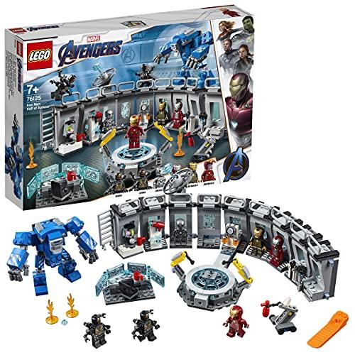 LEGO 76125 Super Heroes Marvel Avengers Iron Mans Werkstatt, Set mit 6 Minifiguren, Superhelden...