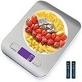 Bilancia da Cucina Smart Digitale con Funzione Tare,5kg/11 lbs Acciaio Inox Bilancia