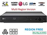 Dynastar LG BP-250 Region Free Blu-Ray Player, Multi Region Smart 110-240...