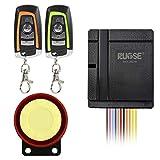 Rupse Kit de Système d'Alarme de Sécurité Antivol Étanche Klaxon Sirène 125dB Bicolore Télécommande pour Moto Vélo