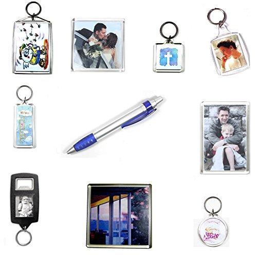1 lot de 10 porte-clés, aimants de réfrigérateur, dessous-de-verre, stylo et décapsuleur SAM12