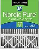 Nordic Pure 20x25x5 (4-3/8 Actual Depth) Plus Lennox X6673, X6675 Replacement AC Furnace Air Filter, 1 PACK, MERV 13 + Carbon