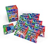 PJ Masks Cookies, Candy, and Toy Birthday Party Favors Supply Pack for 12 Guests
