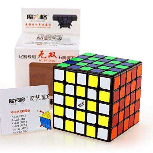cuberspeed Qiyi Wushuang 5x5 Black Magic Cube MoFangGe MFG Wuchuang 5x5x5 Black...