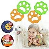 LIUMY Pet Hair Remover for Laundry, Lint Remover, Laundry Lint and Fur Remover, 4pcs Non-Toxic Reusable for Washing Machine,Dryer,Clothes,Bedding
