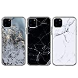 BEAULIFE Case for iPhone 11 Pro Max Case 3pcs Painted Series Phone Case Cover Full Body Protective Soft Flexible TPU Case Marble