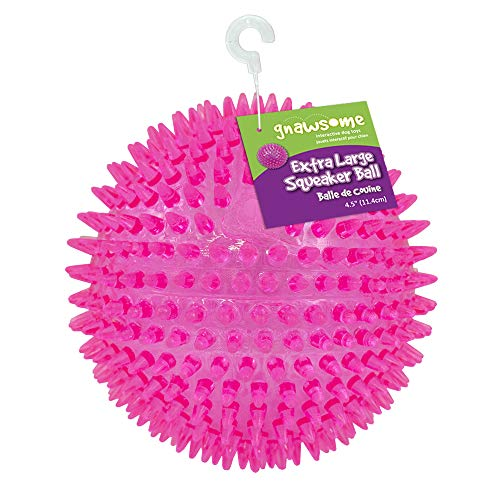 "Gnawsome 4.5"" Spiky Squeaker Ball Dog Toy -..."