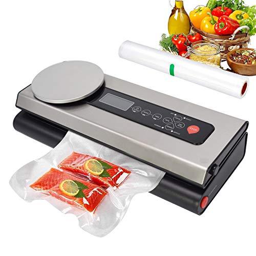 Macchina Sottovuoto per Alimenti Techfection, con bilancia per alimenti e schermo LCD per alimenti secchi e umidi che rimangono freschi fino a 8 volte pi a lungo quando vengono aspirati