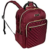 Kenneth Cole Reaction Women's Chelsea Chevron Quilted 15-Inch Laptop & Tablet Fashion Travel Backpack, Burgundy, Laptop