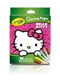 Crayola Hello Kitty Mini Coloring Pages & Markers, 86 Piece Set Art Gift for Kids 3 & Up, Washable Non-Toxic Markers, Mini Coloring Book Pages Feature Favorite Hello Kitty Characters, Great for Travel