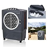 Honeywell Rated Portable Swamp Cooler & Fan, ETL Certified Outdoor-Safe with GFCI Cord, 1700 CFM, Gray Evaporative Cooler, 1647, Grey