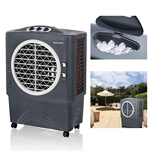 Honeywell CO48PM Evaporative Air Cooler For Indoor & Outdoor Use, 1062 CFM - 10.6 Gallon Tank