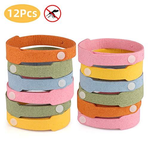 12PCS SASSE Anti-Moustique Bracelet, Mosquito Repellent Bracelet, Bracelet...