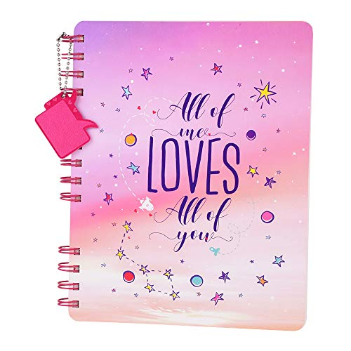Doodle Forever Mine Wiro Bound Undated Notebook Diary with Theme Based Dangler (8.5 X 6.5 inches, 80 GSM, 160 Pages) Love Diary for Girls.