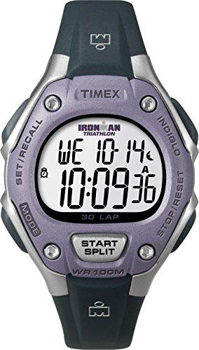 Timex Women's Ironman 30-Lap Digital Quartz Mid-Size Watch, Grey/Lilac - T5K410