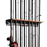 KastKing Patented V15 Vertical Fishing Rod Holder – Wall Mounted Fishing Rod Rack, Store 15 Rods or Fishing Rod Combos in 18 Inches, Great Fishing Pole Holder and Rack