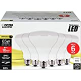 FEIT Electric BR30DM/10KLED/6 65W Equivalent 10.5 Watt 650 Lumen Dimmable LED BR30 Flood Light Bulb, 5'H x 3.75'D, 2700K (Soft White), 6 Piece