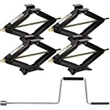 WEIZE Camper RV Trailer Stabilizer Leveling Scissor Jacks with Handle-24-5000lbs - Set of 4