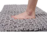 Yimobra Original Bathroom Rugs, Soft Shaggy Bath Rug, Large Size Bath Mats, 31.5 X 19.8 Inches, Super Absorbent, Machine Washable, Non Slip for Bathroom Floor, Gray